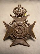 Haldimand Rifles Wwii Cap Badge 1928 M.61 Canadian Militia For King And Country
