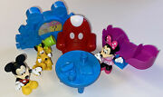 Awesome Disney Mickey Mouse Clubhouse Playset Figures, Props, Accessories Lot