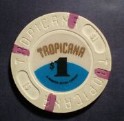 Tropicana Hotel Casino 1.00 Chip Great For Collection Auct1641