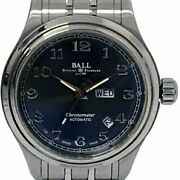 Ball Watch Train Master Cleveland Express Nm1058d-scj-gy Gray Black Automatic