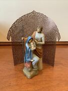 Willow Tree The Holy Family With Shelter By Artist Susan Lord With Boxes