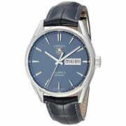 Tag Heuer Menand039s War201e.fc6292 Carrera Automatic Blue Leather Watch