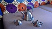 Alessi Whistling Tea Kettle With Sugar Bowl And Creamer Michael Graves
