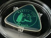 2008 Canada 50 Cent Sterling Silver Triangle Coin - Milk Delivery Nice Green