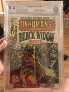 Amazing Adventures 1 Cbcs 9.4 Ow First Solo Black Widow 1970 Double Cover Movie