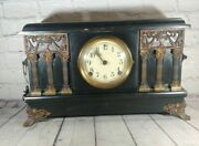 Antique Sessions Co. Mantle Shelf Clock With Chimes And Keys