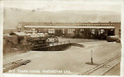 Huntington Or Number 7 Railroad Train Roundhouse Real Photo Postcard