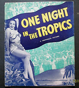 Abbott And Costello One Night In The Tropics Orig,1940 Movie Pressbook Wow