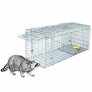 32and039and039 Humane Live Animal Trap 1 Door Rodent Cage For Rabbits Cat Raccoon Squirrel