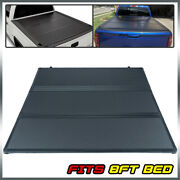 8and039 Long Bed Lock Hard Tri-fold Tonneau Cover For Chevy/gmc Silverado 2007-2013