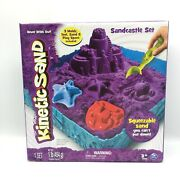 Kinetic Sand Sandcastle Set With 1lb Of Kinetic Sand Tools And Molds Purple New
