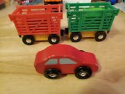 Melissa And Doug Train Set Wooden Magnetic Trains Toy Lot Of 3 Yk13178