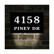 Homidea Led Lighted Address Sign. Light Up House Numbers. Led House Numbers