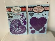Hot Off The Press Intricate Floral Heart Love And 5 Valentines Day Rubber Stamp