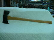 Vintage Stratco-liner Action Tools Quality Built Double Bit Axe New Handle Euc