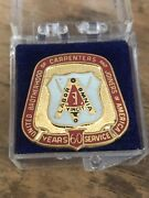 Vtg United Brotherhood Of Carpenters And Joiners 60 Yrs Service Pin /trade Union