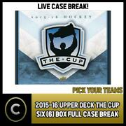 2015-16 Upper Deck The Cup Hockey 6 Box Case Break H1087 - Pick Your Team