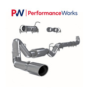 Mbrp S6004409 4 Turbo Down Pipe Back Exhaust For 01-07 Chevy/gmc Duramax 6.6l