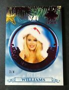 2019 Benchwarmer Beth Williams Holiday Ornament Pink Variant/4 Playboy Playmate