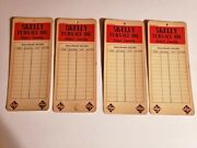 Vintage Lot Of 4 Skelly Furnace Oil Charts 8 1/2 X 3 3/4