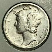 1924 D Extra Fine Xf Mercury Silver Us Dime 10c Cleaned