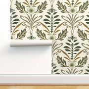 Removable Water-activated Wallpaper Cream Brown Floral Nature Tan Large Neutral