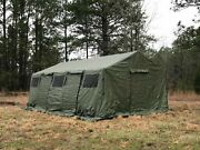 New Us Military Spec Hdt Base-x 305 Tent Shelter 18and039 X 25and039 Floor Liner And Stakes