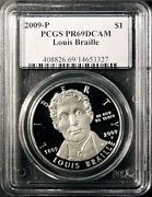 2009 P Braille Silver Dollar Pcgs Pr69dcam Free Shipping