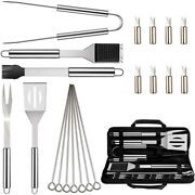 3x20pcs Bbq Grill Accessories Tools Set Stainless Steel Grilling Kit With