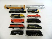Lot Of 12 Model Rr Train Cars Loco - Tyco Bachmann Walther - Parts Or Repair