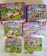 Lot Of 4 Lego Friends Complete Sets 41301 41302 41308 41114 Pets Puppy Cat Bunny