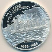 1985 Falkland Islands Sterling Silver 25 Pounds Proof Coin-nice Ships Free