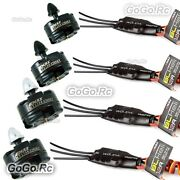 4 Pcs Emax Mt2204 2300kv Cw Ccw Motor And Simonk 12a Esc Speed Controller For Fpv
