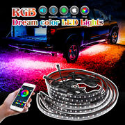 Rgb Underglow Led Lights Strip Multi Color Music Bluetooth App Remote Chase Car