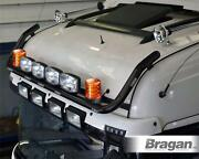Black Roofbar + Led +spot +beacon +airhorn For Volvo Fh Series2and3 Globetrotterxl