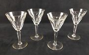 Four Waterford Crystal Water Goblets Sheila Cut E