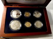 1993 Bill Of Rights 5 1 50c Proof And Unc Gold, Silver, Clad 6 Coin Set 102