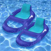 Swimways Spring Float Recliner Xl 61 X 44.5 Collapsible Pool Float - 2 Pack