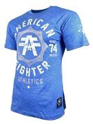 American Fighter North Carolina Marble Menand039s T-shirt Blue