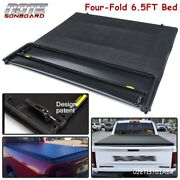4 Fold 6.5ft Truck Tonneau Bed Cover Fit For 02-2021 Dodge Ram 1500 2500 3500