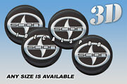 Scion Wheel Cap Domed Decals Emblems Stickers S/b Any Size 4pcs