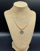 Silpada-sterling Silver And039flirt Alertand039 Pink Soapstone Necklace N2192 3