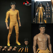 Bruce Lee Game Of Death 80th Dual-head Collectible 1/4 Action Figure Fire 14in.