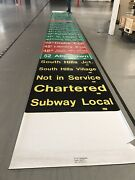 Vintage Pittsburgh Lrv Pcc Trolley Roll Sign Drake Overview Beechview Library
