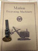 Vintage Antique Pocket Watch Fob Marion Steam Shovel With 24 Page Book