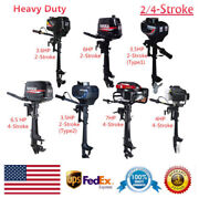 2/4 Stroke Outboard Motor Marine Boat Engine 3.5 Hp-7 Hp W/ Air/water Cooling Ce