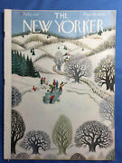 New Yorker Magazine February 1 1947 Countryside Ice Skating Kids Pond Vg Cond