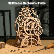 3d Wooden Mechanical Puzzle Model Building Kits Laser Cutting Action By Clocks