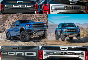 Rear Chrome Front Grill Raised Letters Set For 2018 2019 2020 F150 F-150 Raptor
