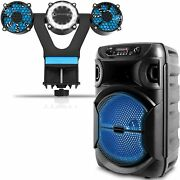 Portable 8 Inch 1000 Watts Bluetooth Speaker With A Barbecue Grill Light And Fan